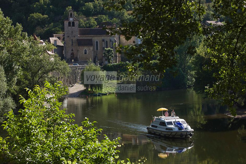 Europe/France/Midi-Pyrénées/46/Lot/Larnagol: Bateau de tourisme fluvial dans la Vallée du Lot