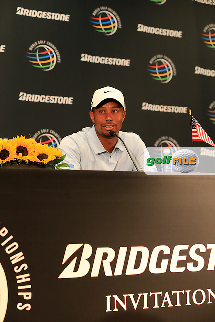 Tiger Woods (USA) leads the field by 7 shots on -15 at the end of Saturday's Round 3 of the 2013 Bridgestone Invitational WGC tournament held at the Firestone Country Club, Akron, Ohio. 3rd August 2013.<br /> Picture: Eoin Clarke www.golffile.ie