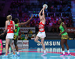 29/10/17 Fast5 2017<br /> Fast 5 Netball World Series<br /> Hisense Arena Melbourne<br /> Grand Final Jamaica v England<br /> <br /> Helen Housby<br /> <br /> <br /> <br /> <br /> Photo: Grant Treeby
