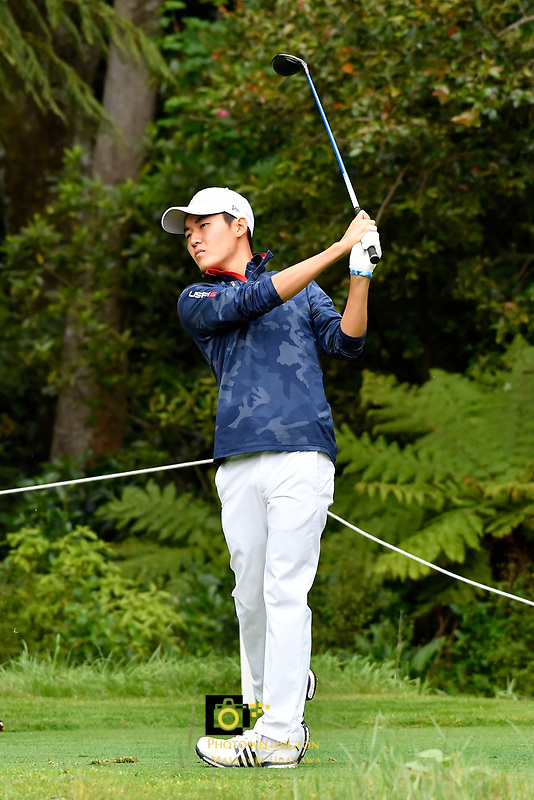 Sean Maruyama (丸山奨王)Japan in action during the Asia- Pacific Amateur Championship at Royal Wellington Golf Club, Wellington, New Zealand on Sunday 29 October.<br /> Photo by Masanori Udagawa. <br /> www.photowellington.photoshelter.com