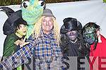 Sheila Curtin, Ritchie Power, Denis Downey and Ronnie Murphy preparing to go bump in the night at the Knocknagoshel Halloween festival on Sunday night