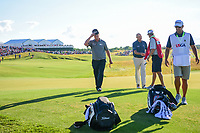 Charley Hoffman (USA) departs 18 with a big smile on his face following Sunday's round 4 of the 117th U.S. Open, at Erin Hills, Erin, Wisconsin. 6/18/2017.<br /> Picture: Golffile | Ken Murray<br /> <br /> <br /> All photo usage must carry mandatory copyright credit (&copy; Golffile | Ken Murray)