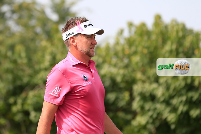 Ian Poulter (ENG) on the 2nd tee during Round 2 of the Omega Dubai Desert Classic, Emirates Golf Club, Dubai,  United Arab Emirates. 25/01/2019<br /> Picture: Golffile | Thos Caffrey<br /> <br /> <br /> All photo usage must carry mandatory copyright credit (© Golffile | Thos Caffrey)