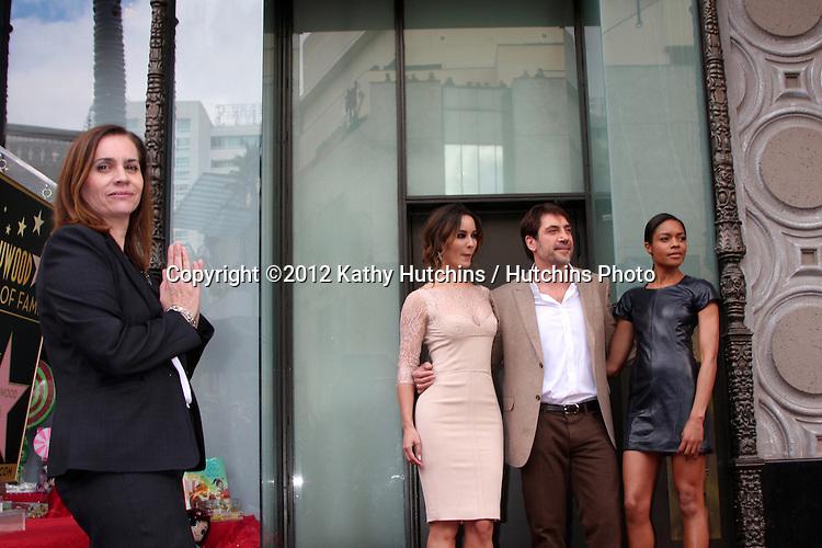 LOS ANGELES - NOV 8:  Berenice Marlohe, Javier Bardem, Naomie Harris at the Hollywood Walk of Fame Star Ceremony for Javier Bardem at El Capitan Theater on November 8, 2012 in Los Angeles, CA
