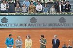 Spanish actors Rodolfo Sancho, Miguel Angel Silvestre, Ursula Corbero, Raul Arevalo, Jose Coronado, Alex Garcia and the Chef Samantha Vallejo-Nagera during Madrid Open Tennis 2015 Final match.May, 10, 2015.(ALTERPHOTOS/Acero)