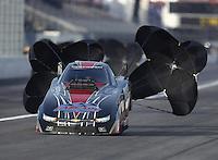 Feb 9, 2017; Pomona, CA, USA; NHRA top alcohol funny car driver Brian Hough during qualifying for the Winternationals at Auto Club Raceway at Pomona. Mandatory Credit: Mark J. Rebilas-USA TODAY Sports
