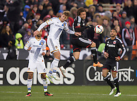 Washington D.C. - Saturday, March 28, 2015: D.C. United defeated the Los Angeles Galaxy 1-0 during a Major League Soccer (MLS) game at RFK Stadium.