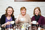 Enjoying the coffee morning in aid of the Kerry Down Syndrome shop at the coffee eating public house in the Abbey Inn on Tuesday morning were l-r Siobhan Flynn,Tralee, Mary Herlihy,Tralee and Ciara O Sullivan,Tralee