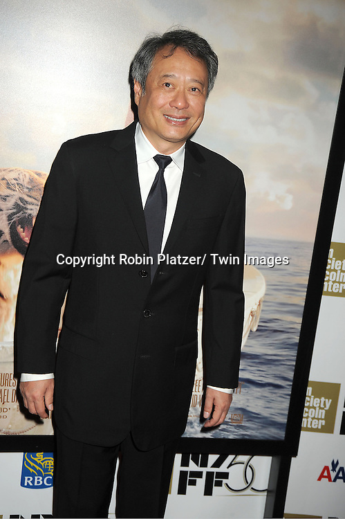 """director Ang Lee attends the 50th Annual New York Film Festival Opening Night Gala presentation of """"Life of Pi"""" starring Suraj Sharma and directored by Ang Lee on September 28, 2012 in New York City. The screening was at Alice Tully Hall at Lincoln Center."""