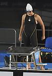 November 13 2011 - Guadalajara, Mexico: Jana Murphy prepares for her swim at the 2011 Parapan American Games in Guadalajara, Mexico.  Photos: Matthew Murnaghan/Canadian Paralympic Committee