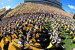 Under the cheers of a capacity crowd, the Iowa Hawkeyes take the field before kickoff against Iowa State at Kinnick Stadium Saturday, September 11, 2010 in Iowa City, Iowa.