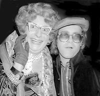 Dame Edna Elton John at Studio 54 1978<br /> Photo By Adam Scull/PHOTOlink.net