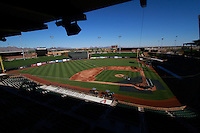 Panoramic view of the field from the Sal River Fields Stadium in Scottsdale. Arizona. sunny day, sports complex with daylight<br />
