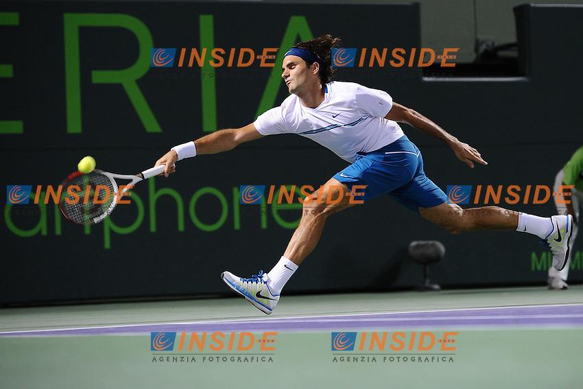 Roger Federer (Svizzera).Torneo di tennis di Miami.26/03/2012 Miami.Foto Insidefoto / Antoine Courvercelle ..Only Italy