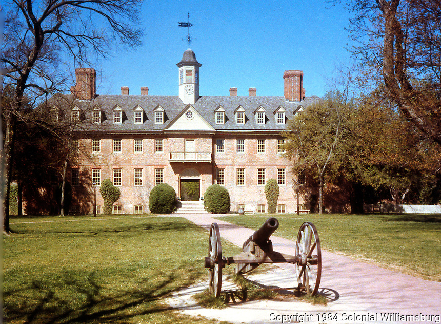 Williamsburg:   The College of William & Mary's Wren Building. (Purchased series)