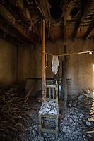 Derrumbe , colapso de casa antigua en el Rancho El Pe&ntilde;asco. <br /> &copy;Foto: LuisGutierrrez/NortePhoto