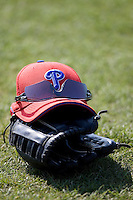 Phillies ST hat 7579.jpg. Philadelphia Phillies Spring Training Camp. March 21st, 2009 in Clearwater, Florida. Photo by Andrew Woolley.