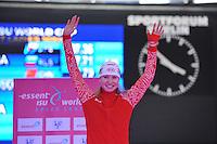 SCHAATSEN: BERLIJN: Sportforum, 06-12-2013, Essent ISU World Cup, podium 500m Ladies Division A, Olga Fatkulina (RUS), ©foto Martin de Jong