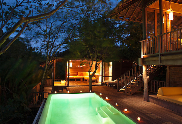 A two-bedroom private pool villa at Six Senses Hideaway Yao Noi. Thailand.