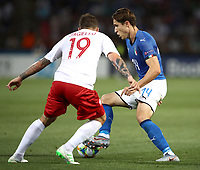 Football: Uefa under 21 Championship 2019, Italy -Poland, Renato Dall'Ara stadium Bologna Italy on June19, 2019.<br /> Italy's Federico Chiesa (r) in action with Poland's Filip Jagiello (l) during the Uefa under 21 Championship 2019 football match between Italy and Poland at Renato Dall'Ara stadium in Bologna, Italy on June19, 2019.<br /> UPDATE IMAGES PRESS/Isabella Bonotto