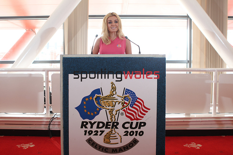 Katherine Jenkins at the launch of the Ryder Cup Welcome to Wales concert at the Millennium Stadium in Cardiff..23.06.10.Photo Credit: Steve Pope-Sportingwales..