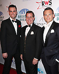 Ryan Stana & Mike Casseling & Adam Sansiveri attending the Broadway Dreams Foundation's 'Champagne & Caroling Gala' at Celsius at Bryant Park, New York on December 10, 2012