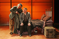 31/8/2010. BOSS GRADY'S BOYS DRESS REHERSAL. Pat Shortt and Tom Hickey are pictured during a dress rehersal for Boss Gradys Boys by by Sebastian Barry in the Gaiety. Starring as 'the boys' Pat Shortt & Tom Hickey With Maria McDermottroe, Gina Moxley, Donagh Deeney, Mary Murray, Maeve Fitzgerald, and Don Wycherley Noel Pearsonn Presents BOSS GRADY'S BOYS . Picture James Horan/Collins Photos.