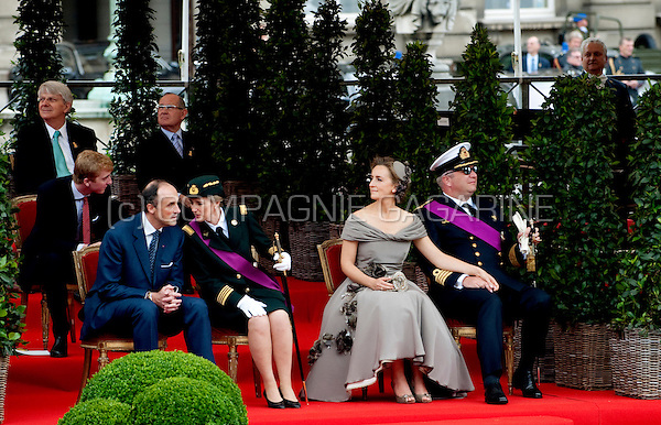 Prince Laurent of Belgium and Princess Claire Coombs at the military parade of the Belgian National Day in Brussels (Belgium, 21/07/2010)