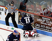 John Gravallese, Matt Walters (Toronto - 11), Matt Ronan (BU - 20) - The Boston University Terriers defeated the visiting University of Toronto Varsity Blues 9-3 on Saturday, October 2, 2010, at Agganis Arena in Boston, MA.