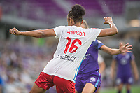 Orlando, FL - Saturday July 01, 2017: Samantha Johnson during a regular season National Women's Soccer League (NWSL) match between the Orlando Pride and the Chicago Red Stars at Orlando City Stadium.