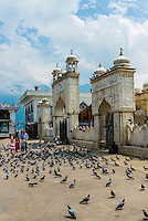 Hazratbal Shrine, along Dal Lake in Srinagar, Kashmir, Jammu and Kashmir State, India.
