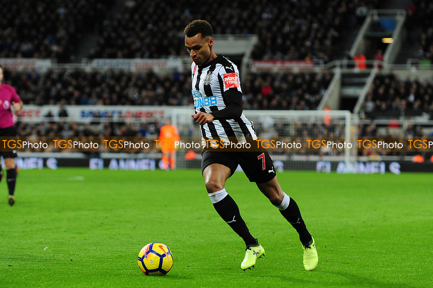 Jacob Murphy of Newcastle United during Newcastle United vs AFC Bournemouth, Premier League Football at St. James' Park on 4th November 2017