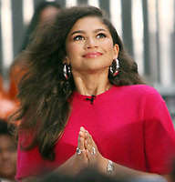 October 11, 2018   Zendaya at Today Show Michelle Obama announces the Obama Foundation's Global Girls Alliance to Support Adolescent Girls Education Around the World on International Day of the Girl   at Rockefeller Center Plaza in New York October 11, 2018 Credit:RW/MediaPunch