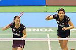 Misaki Matsutomo & Ayaka Takahashi (JPN), SEPTEMBER 21, 2013 - Badminton : Yonex Open Japan 2013 Women's Doubles semi-fainal at Tokyo Metropolitan Gymnasium, Tokyo, Japan. (Photo by AFLO SPORT) [1156]
