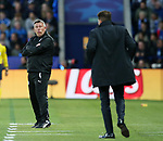 Leicester's Craig Shakespeare looks on dejected during the Champions League Quarter-Final 2nd leg match at the King Power Stadium, Leicester. Picture date: April 18th, 2017. Pic credit should read: David Klein/Sportimage