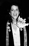 """Gilda Radner on Opening Night starring in  """"Lunch Hour"""" Directed by Mike Nichols on Nov 12, 1980 at the Barrymore Theatre in New York City."""