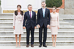 Juliana Awada, president of Argentinian Republic Mauricio Macri, King Felipe VI of Spain and Queen Letizia during meeting with president of Argentinian Republic, Sr. Mauricio Macri and Sra Juliana Awada at Real Palace in Madrid, Spain. February 19, 2017. (ALTERPHOTOS/BorjaB.Hojas)
