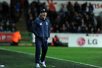 Crystal Palace manager Tony Pulis shouts to his team. Barclays Premier league, Swansea city v Crystal Palace match at the Liberty Stadium in Swansea, South Wales on Sunday 2nd March 2014.