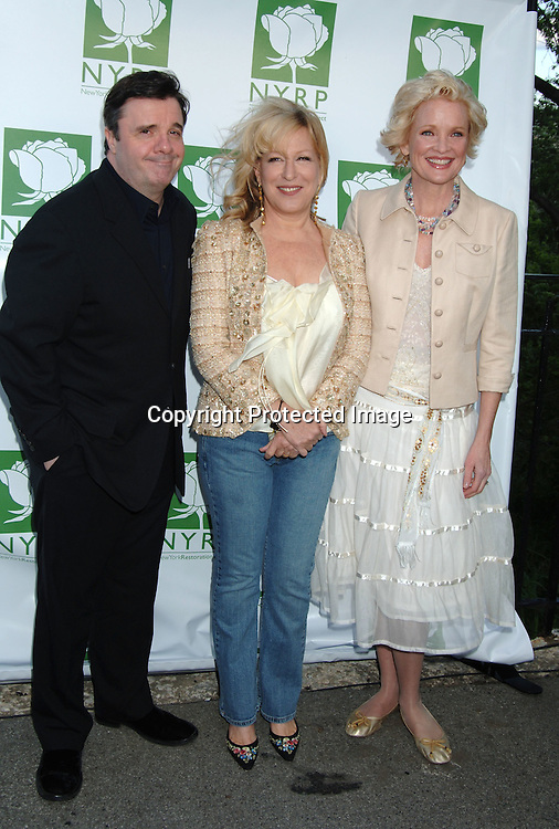 Nathan Lane, Bette Midler and Christine Ebersole..at  Bette Midler's New York Restoration Project  5th Annual Picnic on May 22, 2006 at Highbridge Park...Robin Platzer, Twin Images..