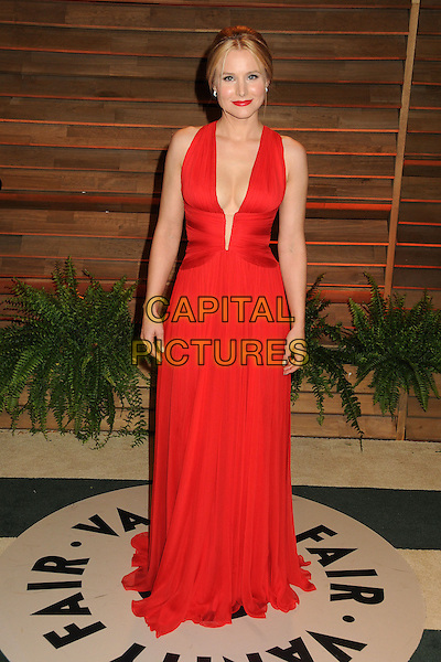 02 March 2014 - West Hollywood, California - Kristen Bell. 2014 Vanity Fair Oscar Party following the 86th Academy Awards held at Sunset Plaza.  <br /> CAP/ADM/BP<br /> &copy;Byron Purvis/AdMedia/Capital Pictures