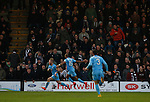Grimsby Town 1 Lincoln City 3, 28/12/2014. Blundell Park, Football Conference. Goal celebration by Lincoln City's Alan Power.  Photo by Paul Thompson.