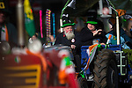 © Joel Goodman - 07973 332324 . 13/03/2016 . Manchester , UK . Tractors driven as floats with the parade . The St Patrick's Day Parade , celebrating the Irish Community , through Manchester City Centre , in the Spring sunshine . Photo credit : Joel Goodman