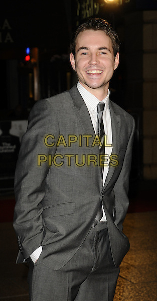 "MARTIN CROMPSTON.World Premiere of ""The Damned United"" at the Vue West End, Leicester Square, London, England..March 18th 2009.half length 3/4 grey gray suit hands in pockets .CAP/CAN.©Can Nguyen/Capital Pictures."