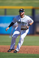 Peoria Javelinas Tyler Marlette (45), of the Seattle Mariners organization, during a game against the Surprise Saguaros on October 12, 2016 at Peoria Stadium in Peoria, Arizona.  The game ended in a 7-7 tie after eleven innings.  (Mike Janes/Four Seam Images)