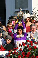 May 5, 2012. I'll Have Another and Mario Gutierrez win the 138th Kentucky Derby at Churchill Downs in Louisville, KY