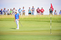Byeong Hun An (KOR) watches his putt on 11 during Thursday's round 1 of the 117th U.S. Open, at Erin Hills, Erin, Wisconsin. 6/15/2017.<br /> Picture: Golffile | Ken Murray<br /> <br /> <br /> All photo usage must carry mandatory copyright credit (&copy; Golffile | Ken Murray)