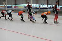 SCHAATSEN: LEEUWARDEN: 20-06-2016, ELFSTEDENHAL, Training Zomerijs, Michel Mulder, Jesper Hospes en Sjoerd de Vries, ©foto Martin de Jong