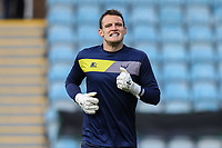 Oxford United goalkeeper Simon Eastwood warms up ahead of the Sky Bet League 1 match between Peterborough and Oxford United at the ABAX Stadium, London Road, Peterborough, England on 30 September 2017. Photo by David Horn.