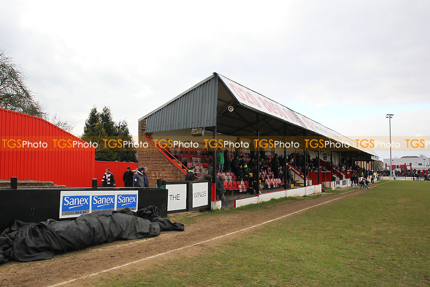 General view of the main stand at Welling United FC - Welling United vs Chelmsford City - Blue Square Conference South Football at Park View Road - 29/03/13 - MANDATORY CREDIT: Gavin Ellis/TGSPHOTO - Self billing applies where appropriate - 0845 094 6026 - contact@tgsphoto.co.uk - NO UNPAID USE.