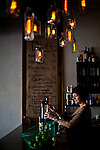 Rebecca Veard prepares drinks at Midtown Eats in Reno, Nevada, July 6, 2012.